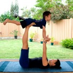 Hands-on Mother and son exercising together